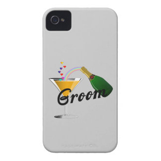 Tostada de Champán del novio Case-Mate iPhone 4 Protector