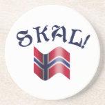 Tostada de consumición noruega de Skal con la band Posavasos Diseño