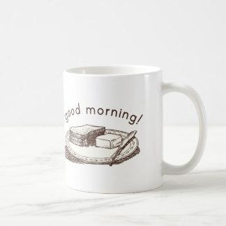 Tostada de la buena mañana taza de café