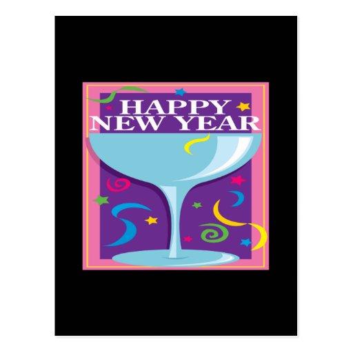 Tostada de la Feliz Año Nuevo Tarjeta Postal