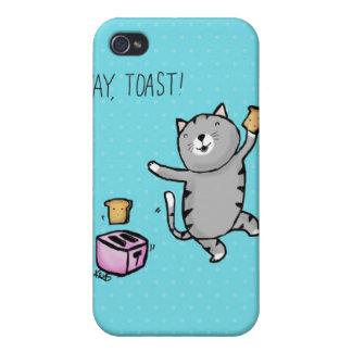 ¡Tostada de Yay! Gatito iPhone 4 Carcasas
