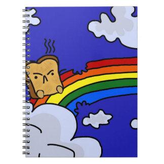 Tostada del arco iris libreta