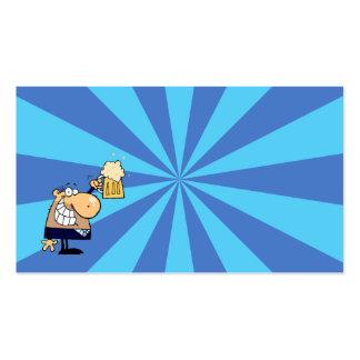 Tostada del hombre de negocios tarjetas de visita