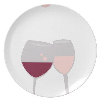Tostada del vino platos