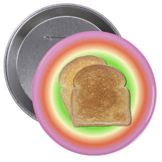 Tostada en un botón de la placa pins