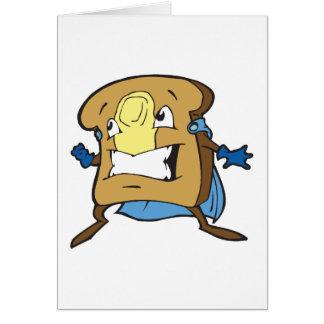 tostada estupenda caped super héroe tonto tarjeta de felicitación