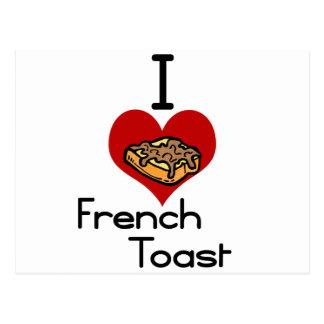 Tostada francesa del amor-corazón I Postal