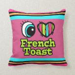Tostada francesa del ojo del amor brillante del co almohadas