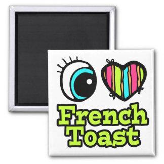 Tostada francesa del ojo del amor brillante del imán cuadrado