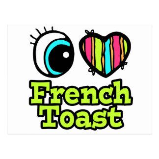 Tostada francesa del ojo del amor brillante del tarjetas postales