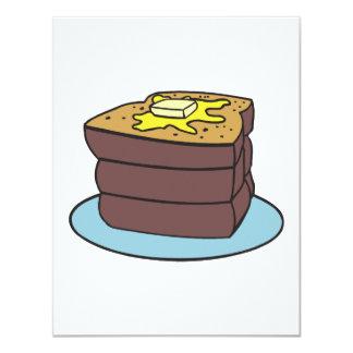 """tostada francesa invitación 4.25"""" x 5.5"""""""