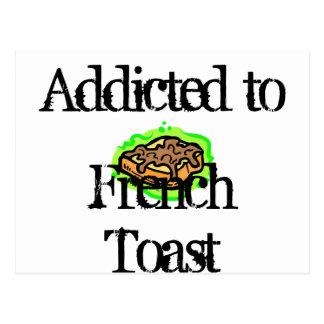 Tostada francesa tarjeta postal