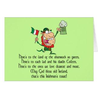 Tostada irlandesa tarjetas