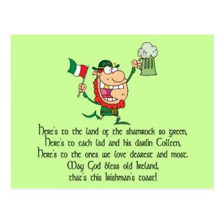 Tostada irlandesa tarjeta postal