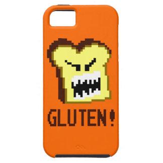 Tostada, la amenaza del gluten: estilo de 8 bits iPhone 5 funda
