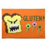 Tostada, la amenaza del gluten: estilo de 8 bits mantel
