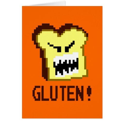 Tostada, la amenaza del gluten: estilo de 8 bits tarjeton