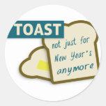 Tostada: No apenas por el Año Nuevo más Pegatina