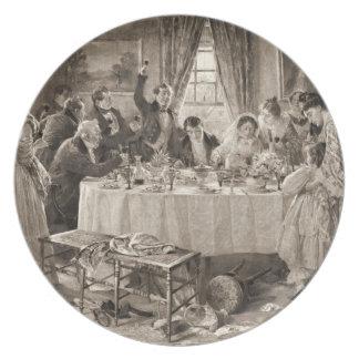 Tostada nupcial 1903 platos para fiestas