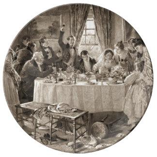 Tostada nupcial 1903 plato de cerámica