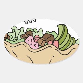 Tostada Salad Mexican Food Oval Sticker