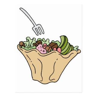 Tostada Salad Mexican Food Postcard