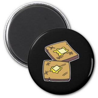 tostada untada con mantequilla imán redondo 5 cm