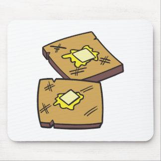 tostada untada con mantequilla alfombrilla de raton