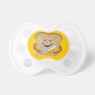 Tostada y mantequilla chupete