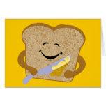 Tostada y mantequilla felicitacion