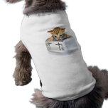 Tostadora del gato camisetas de perrito