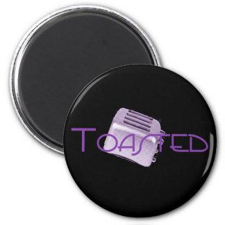 - Tostadora retra - púrpura tostada Iman