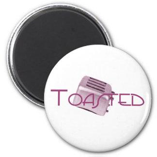 - Tostadora retra - rosa tostado Imanes Para Frigoríficos