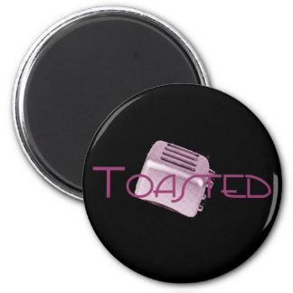 - Tostadora retra - rosa tostado Iman De Frigorífico