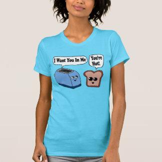 Tostadora y rebanada divertidas de camisa del pan