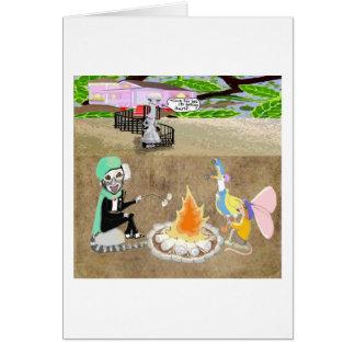 Tostar las melcochas tarjetas