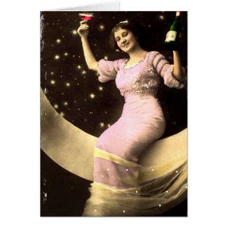 Tostarle de la luna tarjeta