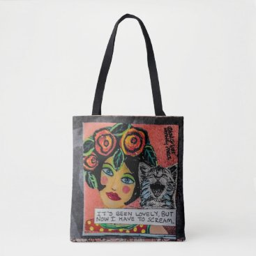 badgirlart Tot bag-it's been lovely but now I have to scream Tote Bag
