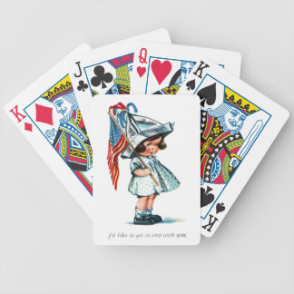 Tot Ready for Independence Day Parade Bicycle Playing Cards