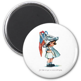 Tot Ready for Independence Day Parade Fridge Magnets