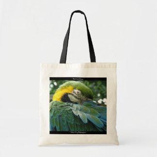 Totable Art by Metaphorphosis ~ Blue & Gold Macaw Tote Bag