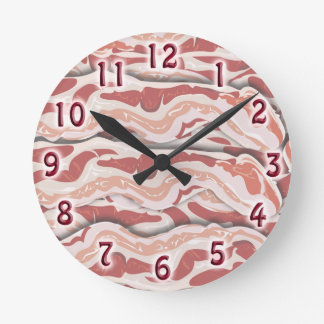 Total Bacon Madness Round Clock