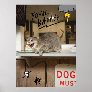 Total Badass Cat Posters
