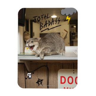 Total Badass Cat Rectangular Magnet