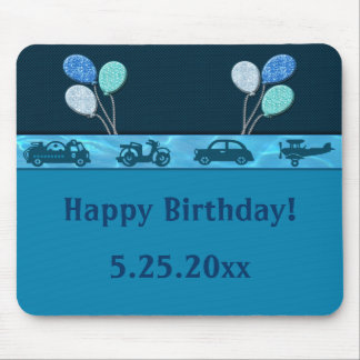 Total Birthday Boy In Blue Mouse Pad