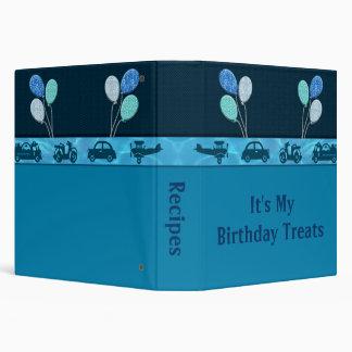 Total Birthday Boy In Blue Recipe 3 Ring Binder