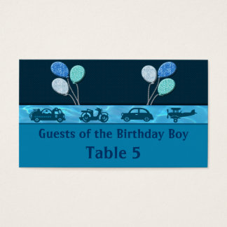 Total Birthday Boy In Blue Table Business Card