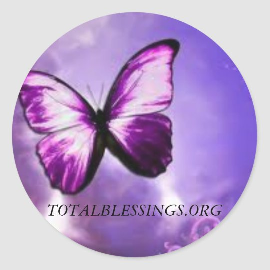 Total Blessings proceeds go to help abused women Classic Round Sticker