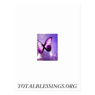 Total Blessings proceeds go to help abused women Postcard