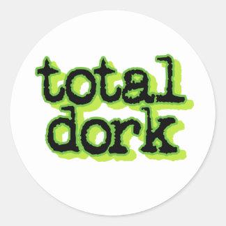 Total Dork Classic Round Sticker